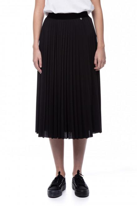 Черная женская плиссированная юбка Rich & Royal