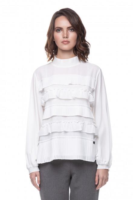 Женская белая блуза с оборками Le Coeur