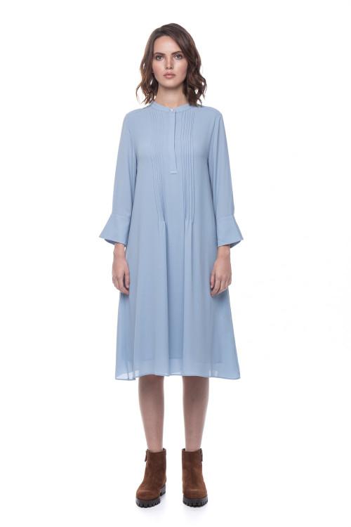 Голубое платье свободного кроя Rich&Royal