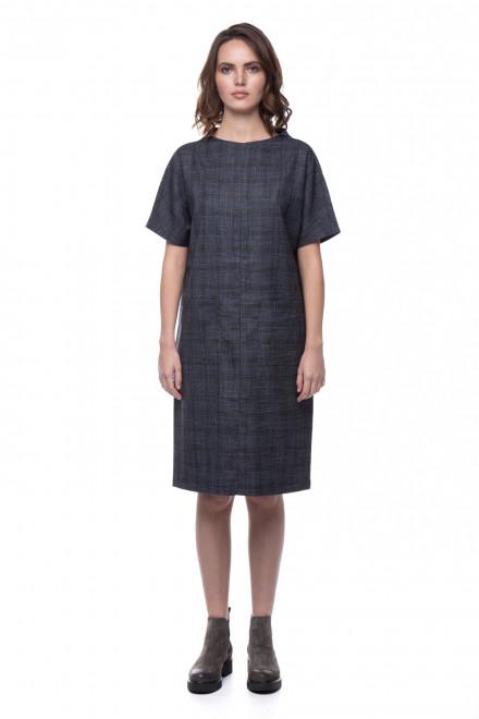 Платье женское серое в клетку UNQ