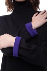Платье трикотажное черное UNQ 5