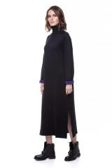 Платье трикотажное черное UNQ 1