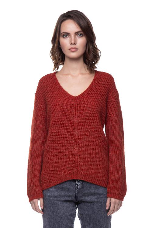 Женский пуловер ржаво-красный  Rich & Royal