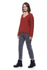 Женский пуловер ржаво-красный  Rich & Royal 5