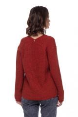 Женский пуловер ржаво-красный  Rich & Royal 2