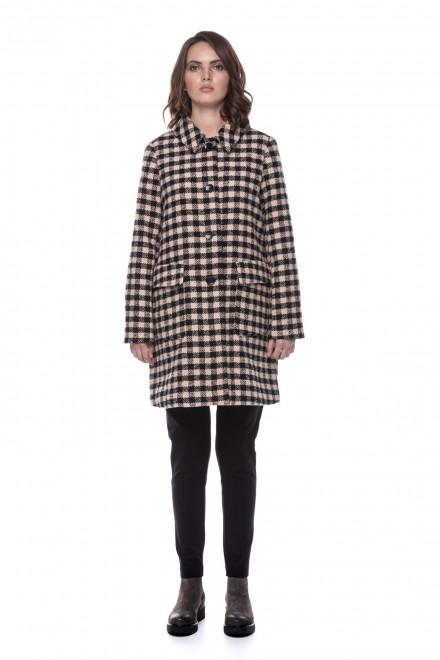 Женское клетчатое пальто Le Coeur