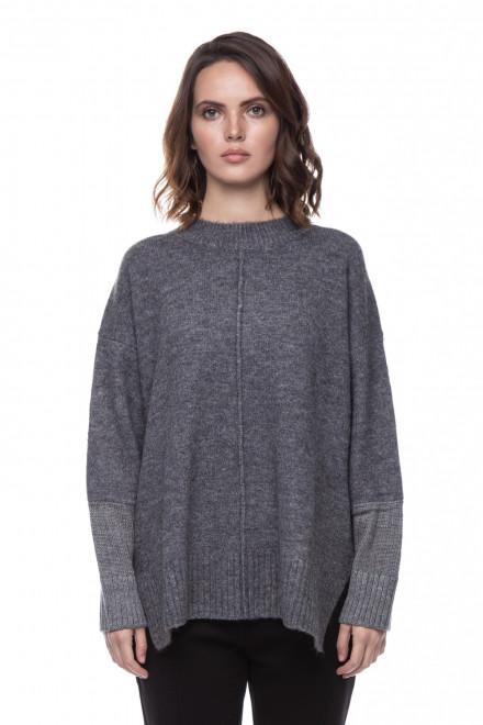 Женский серый пуловер оверсайз Le Coeur