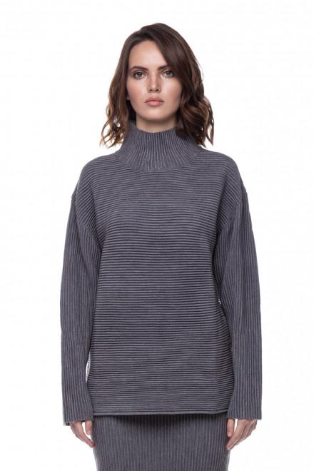Пуловер женский оверсайз серый UNQ