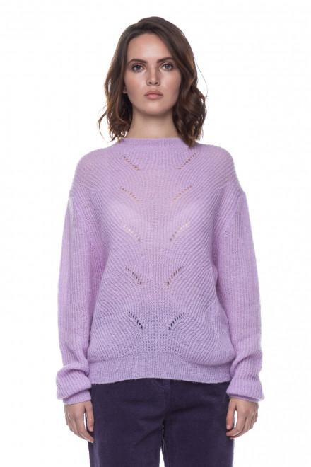 Пуловер женский лавандовый UNQ