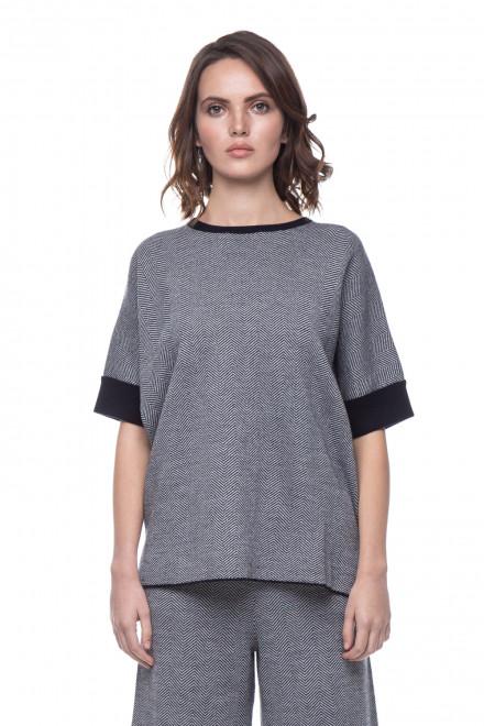 Пуловер женский серый в елочку UNQ