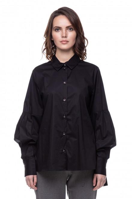 Рубашка из поплина с оборкой Le Coeur