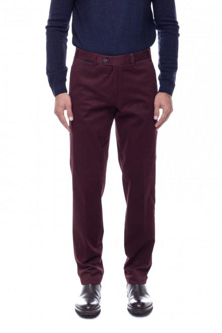 Темно-бордовые брюки Hiltl