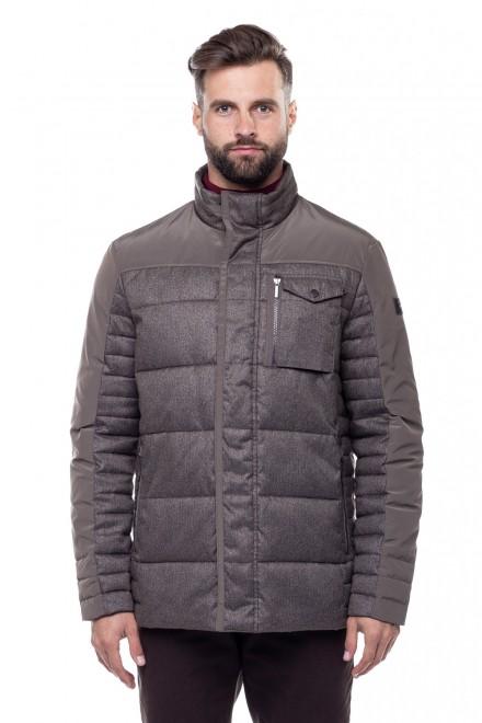 Куртка мужская серая с нагрудным карманом Fynch Hatton