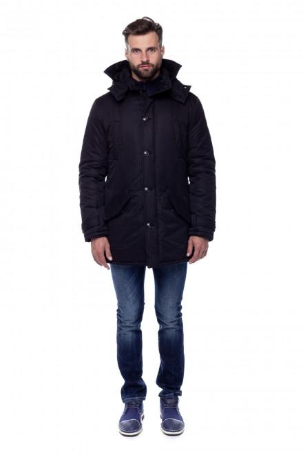 Куртка мужская черная с капюшоном Fynch Hatton