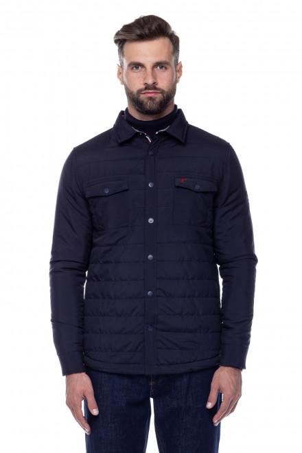 Куртка мужская темно-синяя укороченная Fynch Hatton