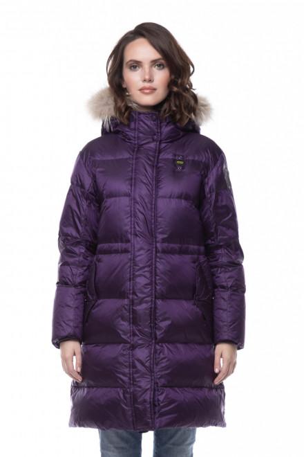 Пуховик женский зимний фиолетовый Blauer
