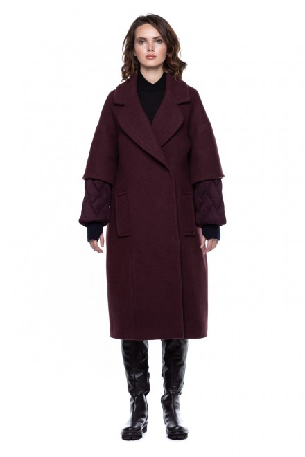 Пальто женское шерстяное с оригинальными рукавами Iris Janvier