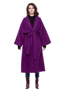 Шерстяное пальто с поясом Iris Janvier