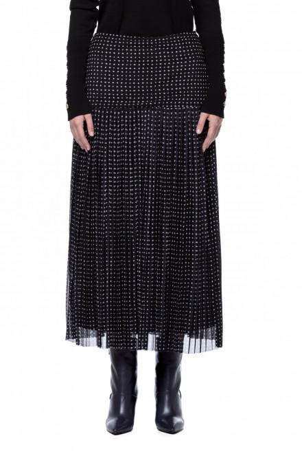 Черная плиссированная юбка Steffen Schraut