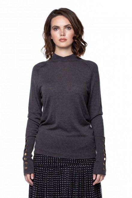 Серый пуловер Steffen Schraut