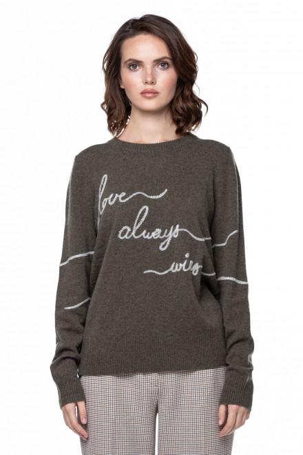 Пуловер с вышивкой Repeat