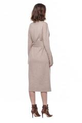 Трикотажное бежевое платье Repeat 2