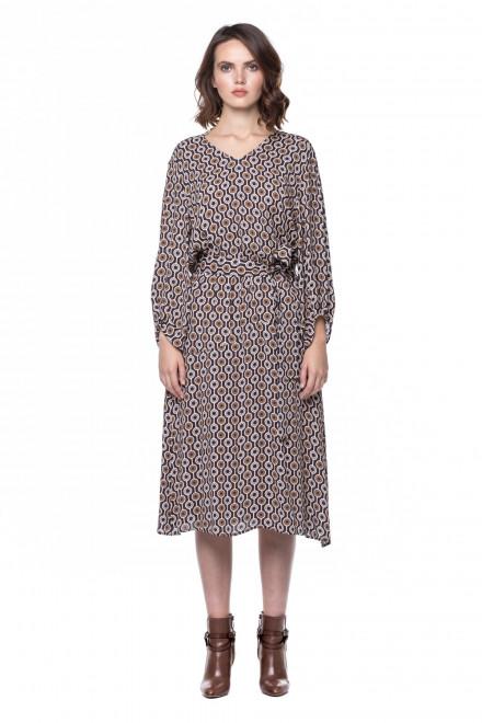 Платье  женское миди с поясом Luisa Cerano