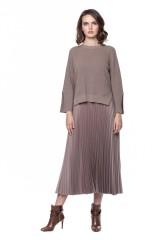 Платье плиссе и короткий пуловер Riani