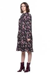 Черное платье в цветочный принт Steffen Schraut