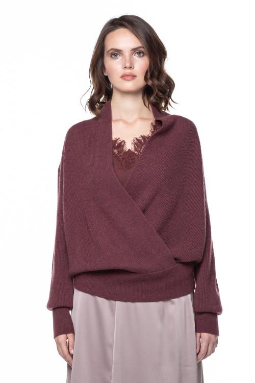 Пуловер женский бургунди Repeat