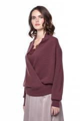 Пуловер женский бургунди Repeat 1