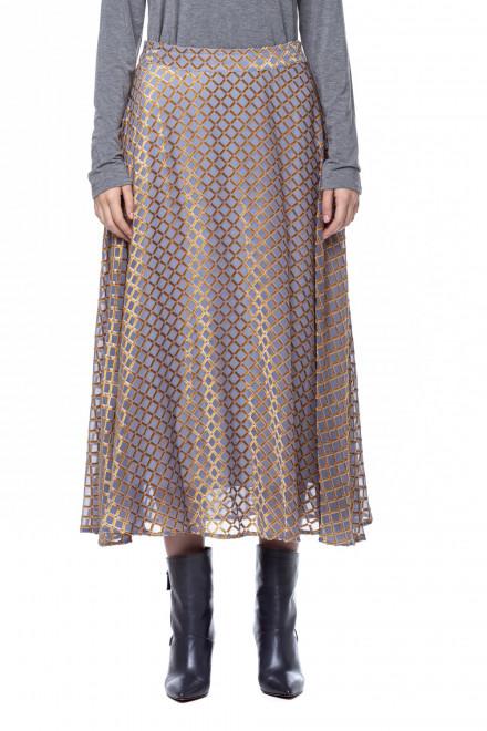 Серая юбка в клетку Riani