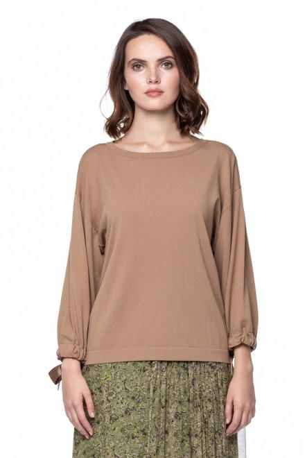 Пуловер женский повседневный прямого кроя без рисунка Luisa Cerano