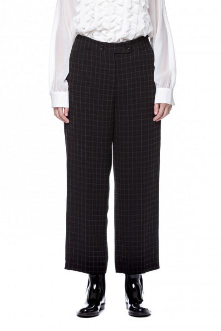 Черные клетчатые брюки Riani