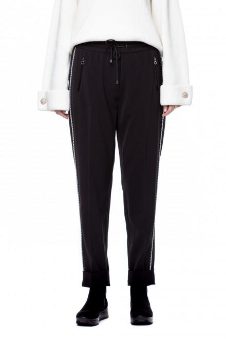 Черные брюки с полоской Riani