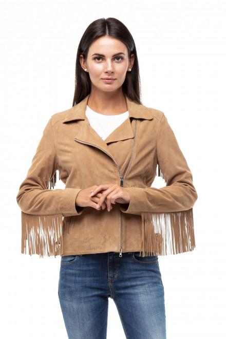 Куртка женская кожаная с бахромой Oakwood