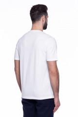 Футболка мужская белая с серым принтом Pal Zileri LAB 2