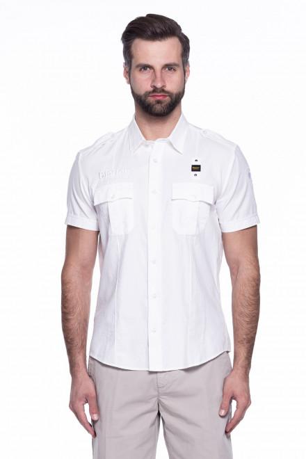 Рубашка мужская белая Blauer.USA