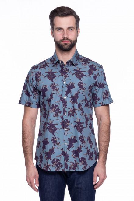 Рубашка мужская серая в цветы Pal Zileri LAB