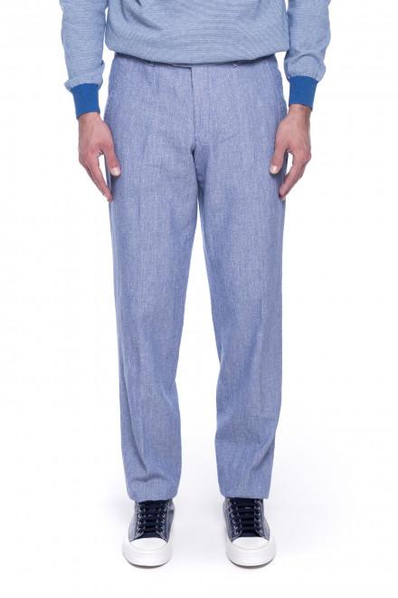 Штаны мужские голубого цвета Hiltl