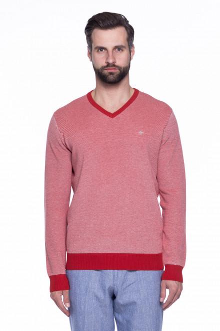 Пуловер мужской с контрастной горловиной Fynch-Hatton
