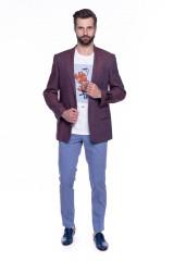 Бордовый пиджак Cadini  4