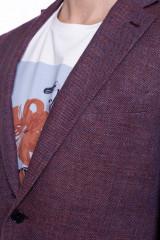 Бордовый пиджак Cadini  3