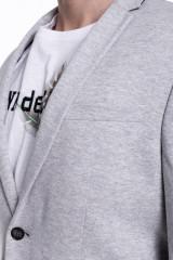 Серый трикотажный пиджак  Junk de Luxe 3