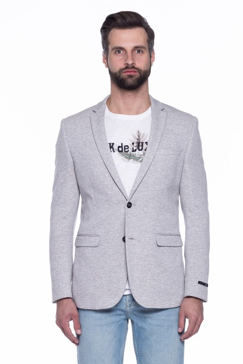 Серый трикотажный пиджак  Junk de Luxe