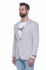 Серый трикотажный пиджак  Junk de Luxe 1