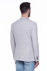 Серый трикотажный пиджак  Junk de Luxe 2