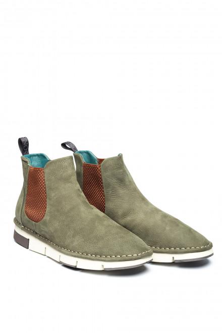Мужские ботинки челси зеленые Watson&Parker