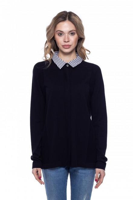 Пуловер женский с рубашечным воротником van Laack