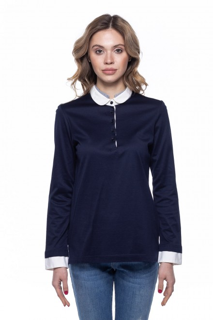 Блуза женская темно-синяя van Laack